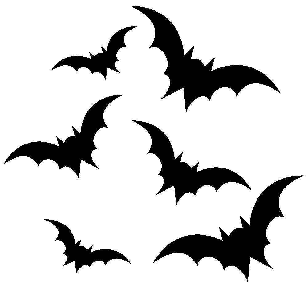 Items Similar To Halloween Decal Bats Set Of 45 Vinyl