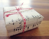 Music gift wrapping paper sheets - pack of 15 music sheets, gift wrapping paper, vintage gift wrap