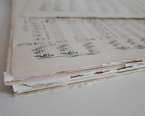 30 vintage music sheets with German lyrics, music wrapping paper, home decor, gift wrap, diy brides, wedding decor, wedding details