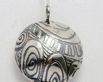 Sterling Silver Pattern Scent Locket