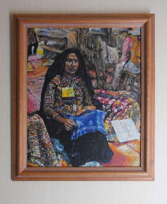 Folk Festival - framed acrylic painting