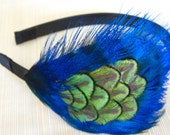 SASSY- PEACOCK FEATHER headband