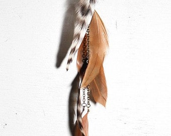 BRIGETTE single feather earring