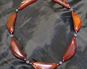Reserve for RJ-Necklace-Carnelian, Sterling, Swarovski