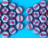 Left Handed - bottle cap trivets- set of two