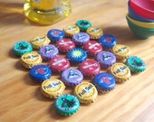 Crazy Craft Color - bottle cap trivet