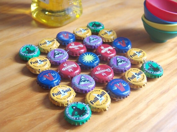 Crazy Craft Color - bottle cap trivet