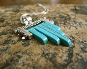 Turquoise Howlite and Sterling Silver Necklace