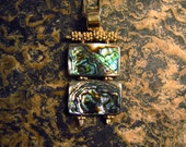 """22Kt Vermeille with Abalone """"Duo"""" Necklace"""