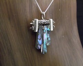 Sterling Silver with Abalone Urchin Necklace