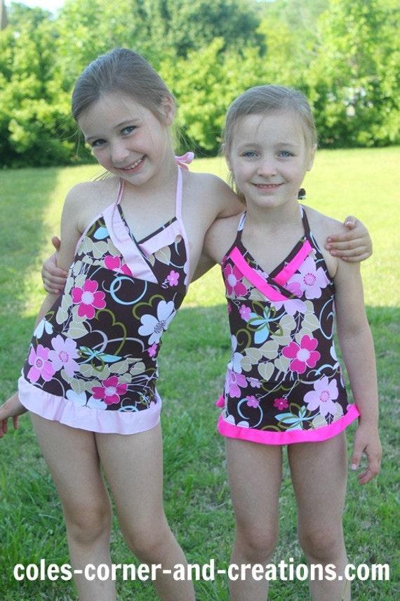 All 4 One Stylish Swimsuit PDF sewing pattern sizes 1-5