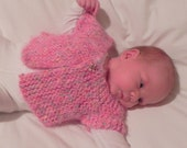 French Angel Capelet Baby Sweater Knitting Pattern PDF, Quick and Easy