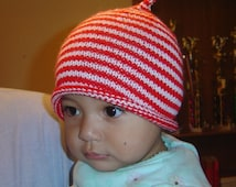 French Christmas Kiss Baby Hat Pattern PDF