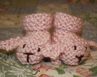 Knit Bunny Booties Pattern PDF