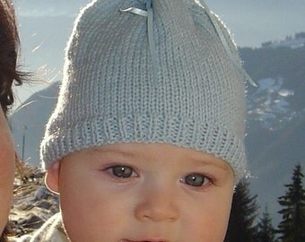 French Sac Ribbon Baby Hat Pattern PDF