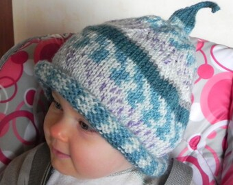 French Elfish Magic Toddler Ski Hat Pattern, PDF