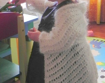 French Lace Angel Wings Shrug Toddler Knitting Pattern PDF