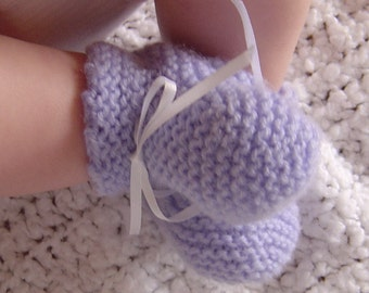 French Filigree Baby Booties Pattern PDF