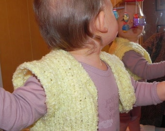 Fast and Easy French Toddler Shrug Pattern PDF - One Skein