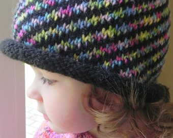 Kaleidoscope Hat Knitting Pattern PDF
