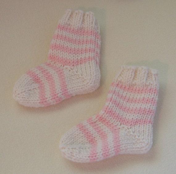 French Baby Knitting Patterns : Baby Socks Knitting Pattern Striped French-Style PDF