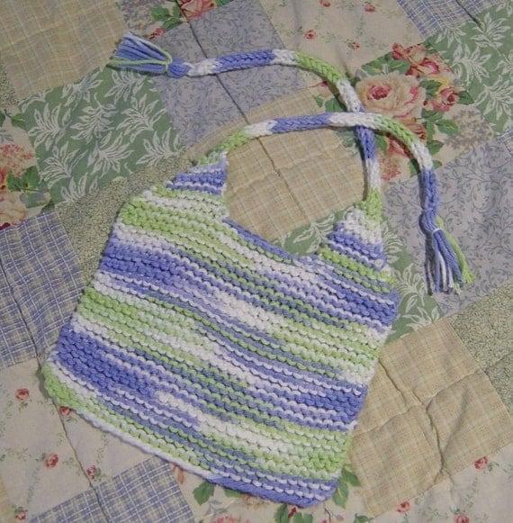 Hand Knit Baby Bib Pattern PDF