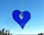 Stained Glass Opening Heart Suncatcher, handmade home decor