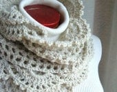 Lace Edge Scarf--Oat