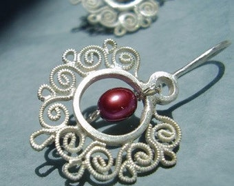 Contemporary Filigree Dangles, Wedding jewelry
