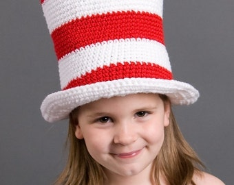 Cat in the Hat - Hat - Any Size Infant to Adults - Photo Prop