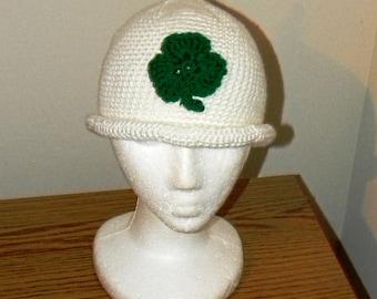 Crochet Pattern 026 - Shamrock Gnome Beanie Hat - All Sizes