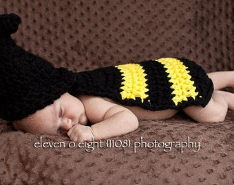 Bumble Bee Cuddle Critter Cape - Newborn Photography Prop