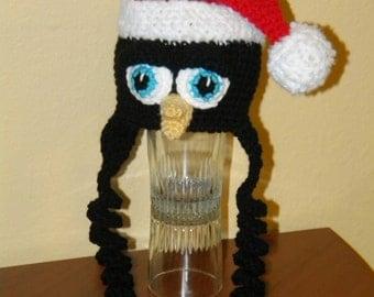 Crochet Pattern 036 - Penguin Santa Hat - All Sizes