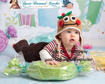 Mr. or Mrs. Gingerbread Hat - Any Size