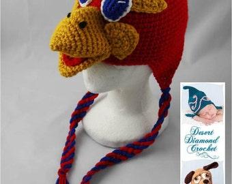 Crochet Pattern 049 - Kansas University Jayhawk - All Sizes