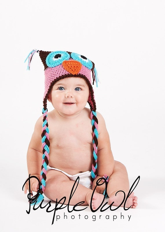 Crazy Owl Hat - Any Size - Any color combo