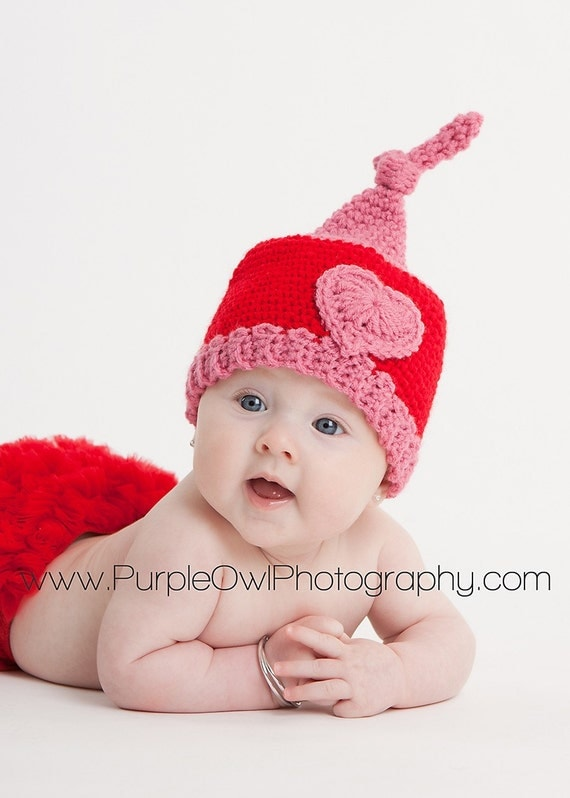 Valentine's Day Gnome - Kiss - Hat - Any Size - Photography Prop