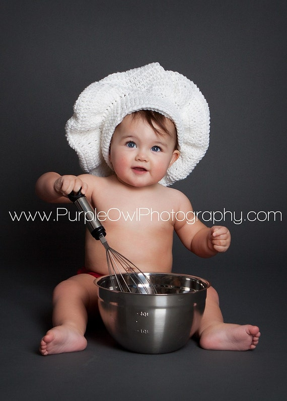 Custom Made to Order Pastry Chef Hat - Photography Prop - Any Size - Any Color