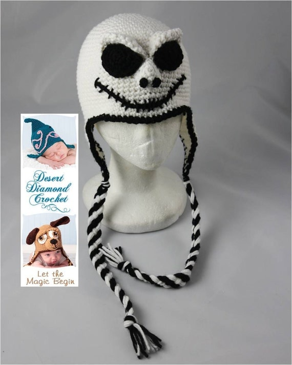 Skeleton Hat - Any Size - Any Color Combo