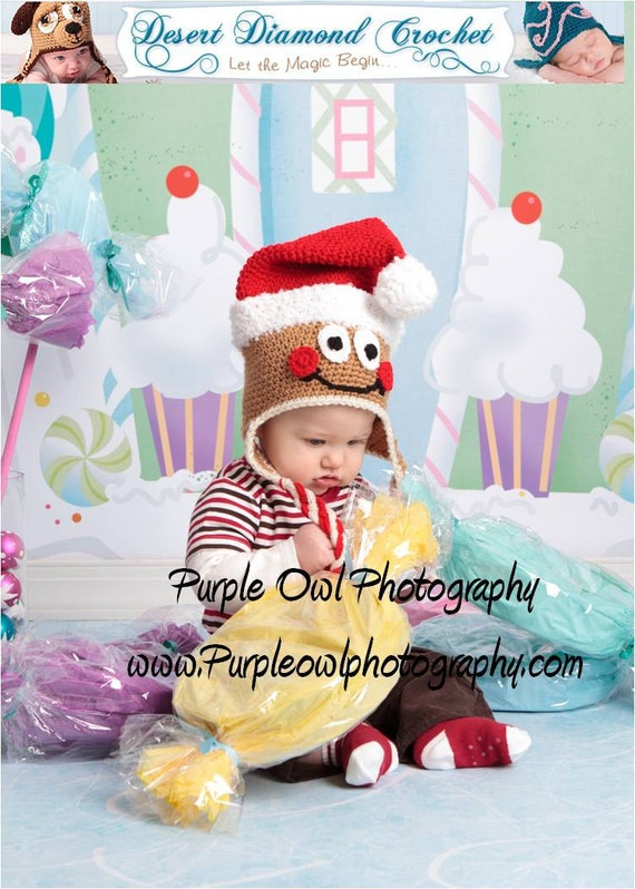 Santa Gingerbread Man Hat - Any Size