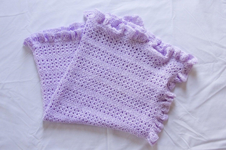 Crochet Pattern 001 Ruffled V Stitch Baby Afghan Blanket