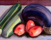 Original Watercolor Still Life - Kitchen Table
