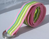 Ribbon Belt in Cotton Candy Stripes