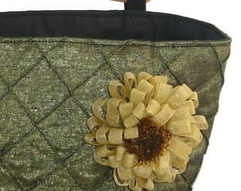 Handbag - Emerald Pintuck Purse