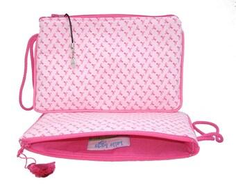 Pink Ribbon Wristlet clutch