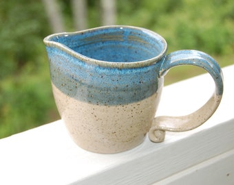 Handmade Pottery Beach House Pitcher
