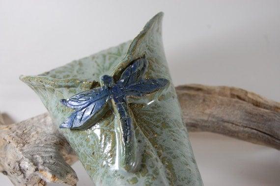Pottery Wall Vase - Dragonfly  Handmade Pottery