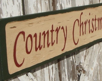 Country Christmas sign