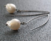 Sterling Pearl Earrings