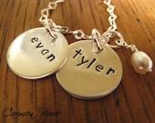 Custom Double Brag Charm Necklace by Carmen Bowe